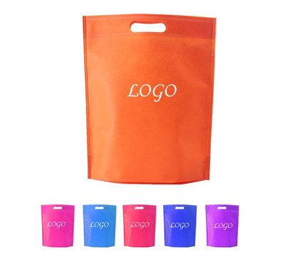 Printed Heat Sealed Die Cut Non-Woven Tote Shopping Grocery Bag