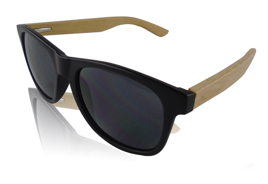 Custom Sunglasses with Bamboo Arms