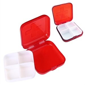 Custom 4-Compartment Pill Box