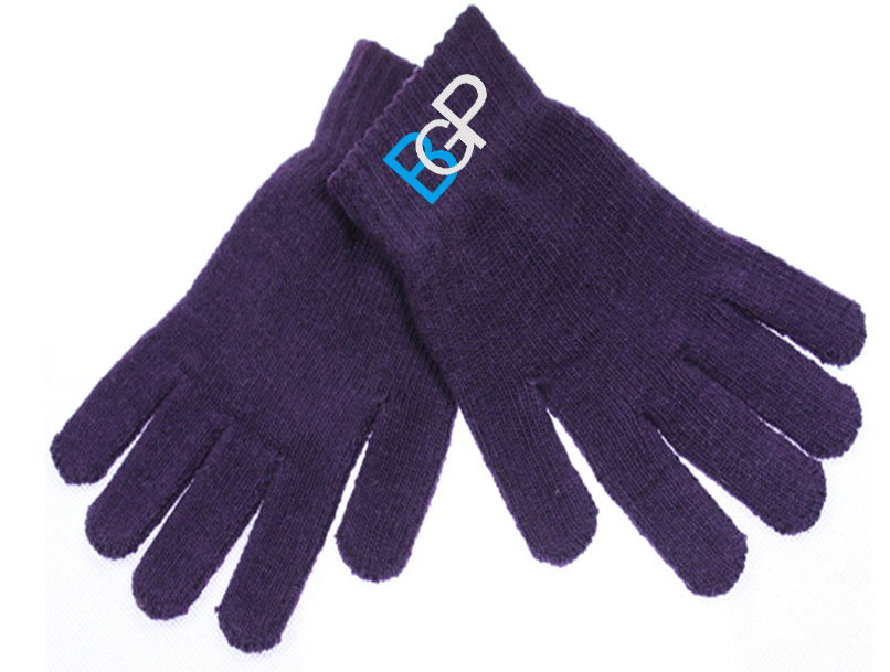 Unisex Winter Custom Logo Knitted Warm Gloves