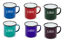 Custom Logo Enamelware Camping Coffee Mugs