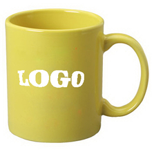 Colored Custom Logo Ceramic Coffee Mug