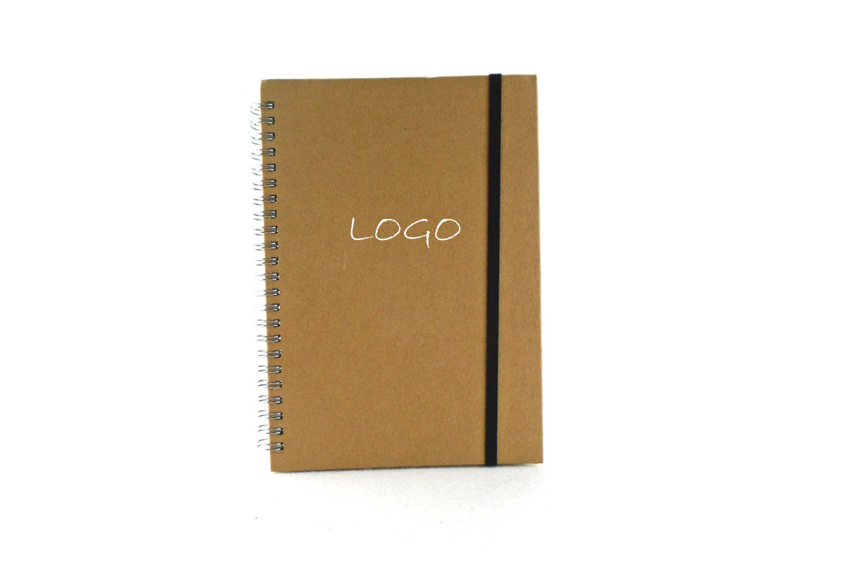 Eco Handy Recycled Pocket Custom Lined Spiral Notebook