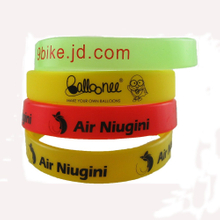 Print Silkscreen Silicone Awareness Bracelets