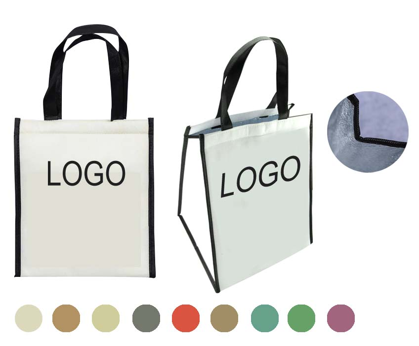 Laminated Cooler Tote Bags With Velcro Closure