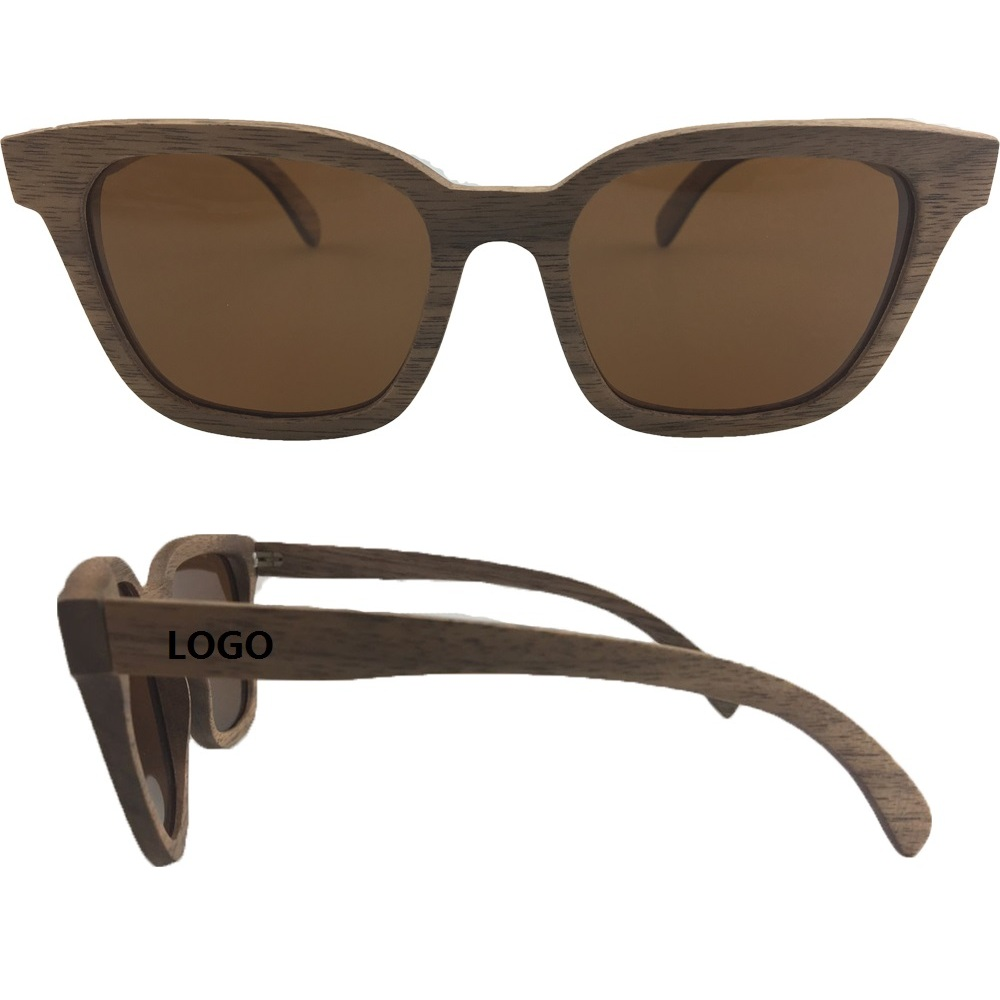 Print Polarized Wooden Sunglasses