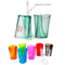 Custom Promotional Transparent Toothbrush Cup with Holder with Logo