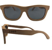 Imprinted Full Bamboo Wood Sunglasses