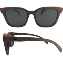 Imprinted Black Walnut Wood Sunglasses