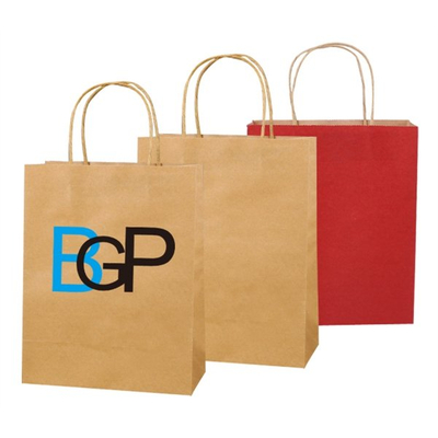 Imprint Kraft Paper Shopping Bag