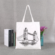 Promotional Eco-friendly Canvas Tote Shopping Grocery Bag