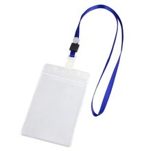 ID Badge Card Holder With Neckstrap Lanyard