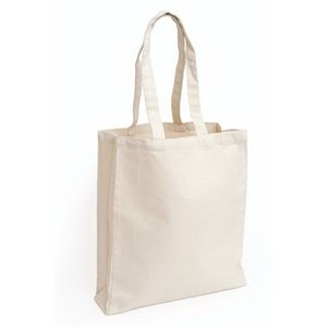Custom Heavy Canvas Tote Book Shopping Bag With Gusset