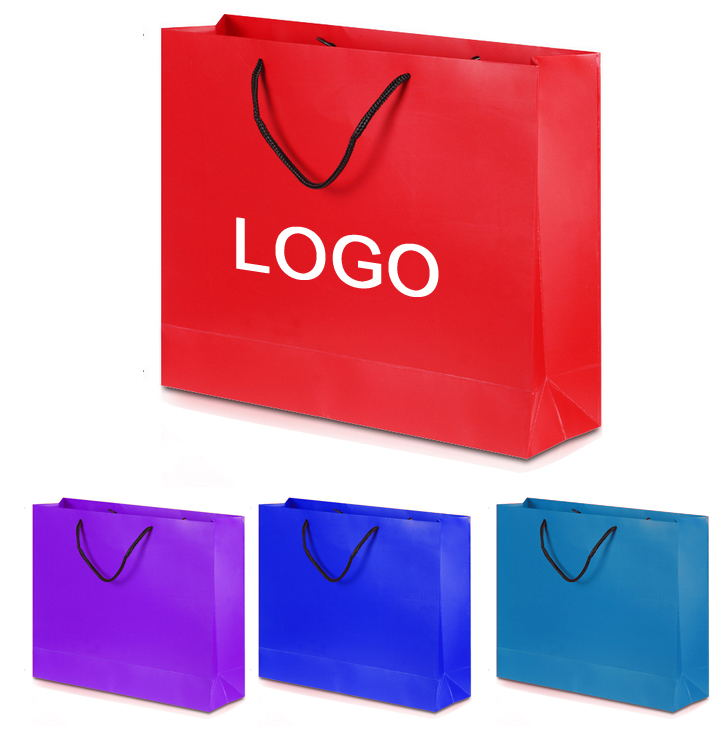 Custom Logo Matte Laminated Tote Shopping Bag