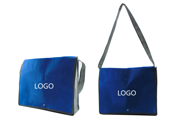 Custom 80 GSM Non-Woven Messenger Bag With Handle